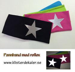 Pannband med reflex stjärna