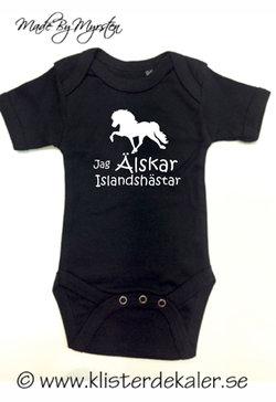 Baby Body Jag älskar Islandshästar
