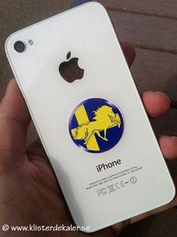 Rund mobildekal Islandshäst