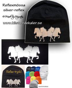 Hat reflective 4- Icelandic horses