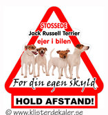 Warning triangle  Jack Russell Terrier