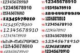Siffror textdekor