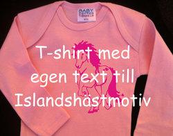 T-shirt baby med egen text!