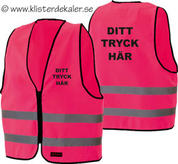 Reflective vest whit your own print. PINK