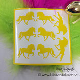 8  icelandic horse easter decoration