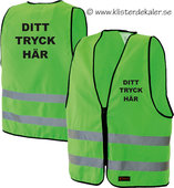 Reflective vest whit your own print. Lime green