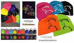 Mössa STORT Islandshästtryck, 27 olika färgval.