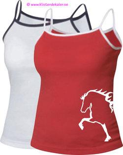 Top whit Icelandic horse straps