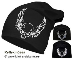 Hat reflective skull Wings