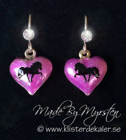 Earrings with Icelandic horses.