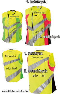 Reflective vest SPORTS whit your own print