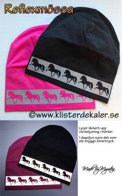 Hat reflective Icelandic horses
