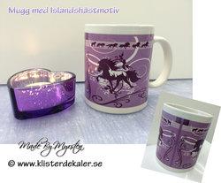 Mugg  Islandshästdesign