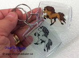 keychain Icelandic horse rectangular