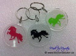 keychain Icelandic horse round