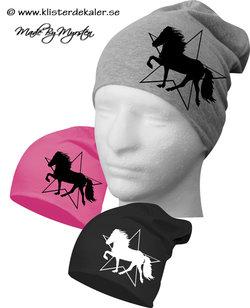Hat print Icelandic horses