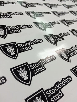 Stickers Stockholms city