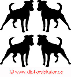 Miniature 4-pack Standing dog