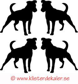 Miniatyrer 4-pack Stående hund
