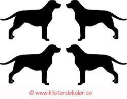 Miniature 4-pack Labrador