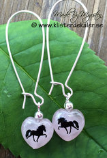 Earrings Icelandic horse Rose quartz