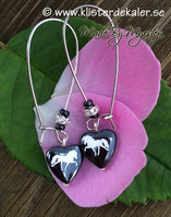 Earrings Icelandic horse hematite