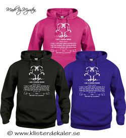 Hoody Islandshäst, Horse rider  (flera olika färgval)