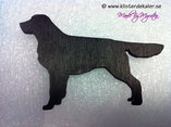 Contour cut Golden Retriever magnet