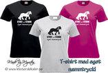 T-shirt. Tinker/Irish Cob Stolt och Stark EGET NAMN TRYCK  (27 olika färgval, dam och unisex/herr)