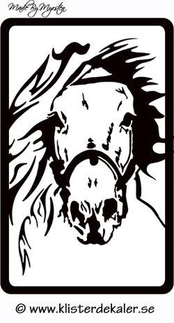 Reflexdekal, rektangel 4x7 cm Häst