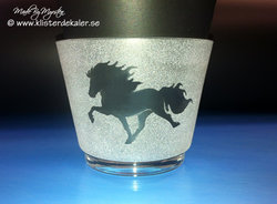 Lantern tealights Icelandic horse