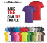T-shirt Basic T  (25 färgval, unisex vuxen+junior)
