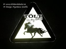 Reflective Decal with Tölt is my thing!.