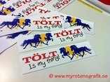 Triple 7 Tölt is my thing sticker