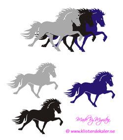 Triple Icelandic horse 8 (3 packs)