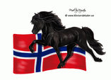 Icelandic horse Norway flag