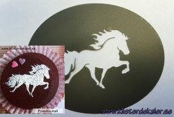 Schablon Icelandic horse