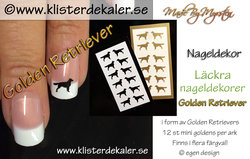 Mini miniature Golden Retriever Nail art